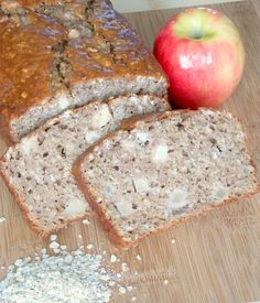 Apple Cinnamon Oatmeal Bread - A hearty bread with cinnamon, oats, and chunks of apple.  Perfect topped with peanut butter for #breakfast or a #snack