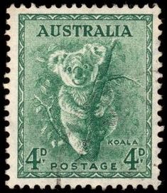 High resolution scan of a vintage stamp from Australia. This one in particular features a koala, and to the best of my knowledge it was issued around the year - Commercial License - No Attribution Required Rare Stamps, Old Stamps, Vintage Stamps, Stamp Values, Reptiles, Postage Stamp Art, Going Postal, Pop Culture Art, Fauna