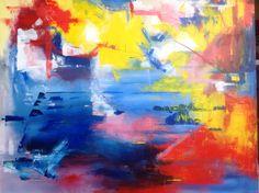 Abstract 1, acryl 70 x 90, april 2013