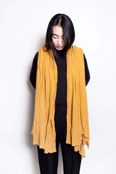 Scarf Shop Wool Cloud Scarf in Saffron – Parc