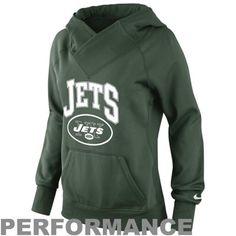 Nike New York Jets Ladies Wildcard Pullover Performance Hoodie - Green