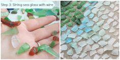How to: Coastal DIY- Ombre Seaglass Windchime