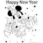 Mickey Celebrating New Year
