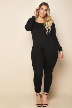 Plus size clothing for full figured women. We carry young and trendy, figure flattering clothes for plus size fashion forward women. Curvalicious Clothes has the latest styles in plus sizes Plus Size Romper, Plus Size Jumpsuit, Plus Size Jeans, Plus Size Tops, Black Jumpsuit, Strapless Jumpsuit, Black Women Fashion, Curvy Fashion, Plus Size Fashion