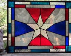 3ce565cc1fb1 Colgante vidrieras Suncatcher por WizardStainedGlass en Etsy Hanging Stained  Glass