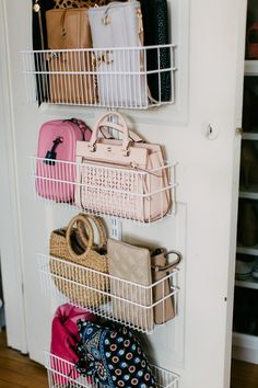 Top Pittsburgh fashion blog, Wellesley & King, features some Useful Closet Door Storage Ideas. Click here now to see them all!