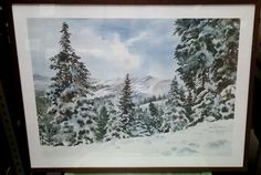 Ruth Basler Burr lithograph -Winter Scene (signed in pencil) by AwesomeCEF on Etsy