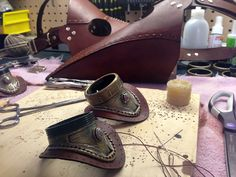 I just finished making these leather Plague Doctor masks for a client, and wanted to share the creative process with the community here.
