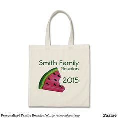 Personalized Family Reunion Watermelon Tote Bag
