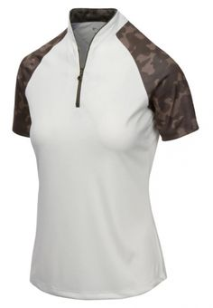 Need new golf apparel? Greg Norman takes pride in offering women's golf clothing for all shapes and sizes. Buy this VICTORY ROSE (Champagne) Greg Norman Ladies & Plus Size ML75 Rogue Short Sleeve Golf Shirts today from Lori's Golf Shoppe!