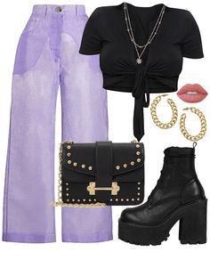 Casual trendy look - Outfits about you searching for. Stage Outfits, Teen Fashion Outfits, Edgy Outfits, Mode Outfits, Retro Outfits, Cute Casual Outfits, Look Fashion, 70s Inspired Fashion, Mode Kpop