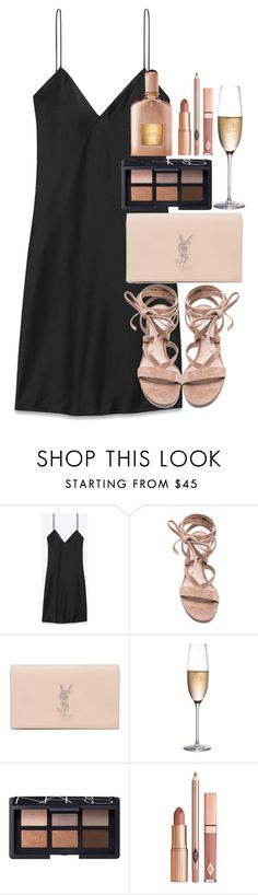 """""""Untitled #2823"""" by elenaday ❤ liked on Polyvore featuring Yves Saint Laurent, Gianvito Rossi, RogaÅ¡ka, NARS Cosmetics, Dolce Vita and Tom Ford"""
