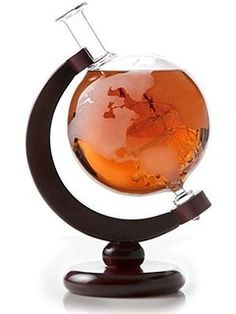 Large Etched Globe W