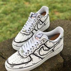 Custom Painted Shoes, Custom Shoes, Custom Af1, Vans Sneakers, Custom Sneakers, Custom Air Force 1, Hype Shoes, Men's Shoes, Nike Air Shoes