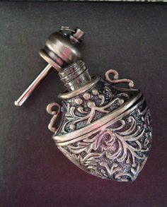 Antique Vintage Victorian Scent Perfume Bottle Pendant