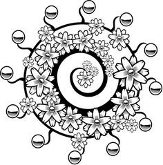 Graffiti Coloring Page zentangle doodle