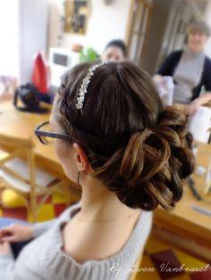 Chignon princesse #mariage #wedding #hairstyle  gwenvanbrussel.com