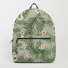 Vintage Jungle Pattern #society6 #decor #buyart Backpacks