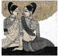 Madhubani Art, Madhubani Painting, Indian Art Gallery, Indian Contemporary Art, Indian Art Paintings, Original Paintings, India Painting, Indian Folk Art, India Art