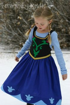 Princess Anna from Frozen Dress up by wonderfullymade139 on Etsy, $55.00