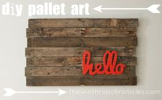 the winthrop chronicles: pallet wall art. For my front door or entry?