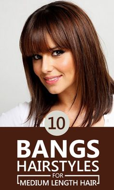 Simple bang hairstyles for medium length hair are very much popular these. Here are 10 such styles for you to pick from to keep your hair ...