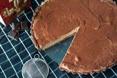 Brownietaart met chocolademousse - OhMyFoodness