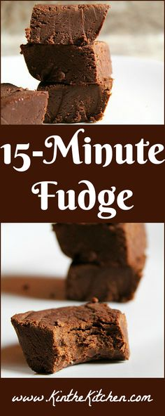 This quick and easy fudge only takes about fifteen minutes! If you love fudge but find candy making to be tricky, (or just don't have the time), this recipe is for you!