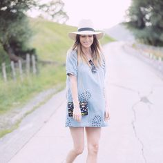 Pepaloves pineapple denim dress -aboslutelyberta