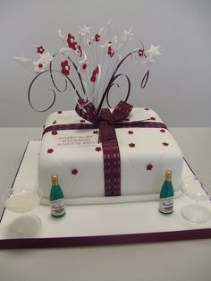 Decorations 'ruby Wedding Anniversary' -cake -gift