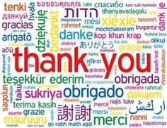 OBRIGADA, OBRIGADO,  THANK YOU, GRACIAS…….