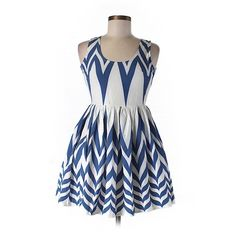Angel Biba Casual Dress ($16) ❤ liked on Polyvore featuring dresses, dark blue, deep blue dress, angel biba and dark blue dress