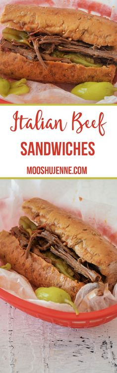 These Italian beef sandwiches cook wonderfully easy in the crock pot without to many ingredients too; it is a budget friendly recipe!