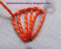 Let's learn embroidery: Frilled buttonhole stitch