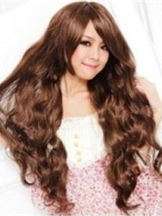 High Quality Long Wavy Brown about 28Inches Cheap Wig Item # W1538     Original Price: $299.00 Latest Price: $51.59