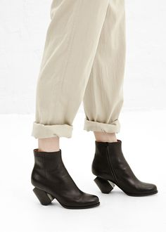 Maison Martin Margiela Slant Heel Ankle Boot (Black)