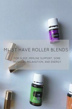Favorite Young Living Essential Oil roller bottle blends made using the premium starter kit. #youngliving #rollerbottle