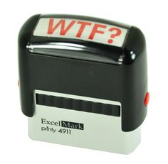 Funny Office Gadgets: WTF Stamp