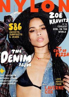 The Denim Issue, Zoe Kravitz August 2015