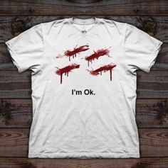 """an alternative for the """"I'm fine"""" t-shirt, for knives lovers :)"""