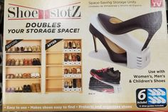 Shoe Slotz Space Storage Saver Closet Organizer Shoes Stand New 6 Piece Set | Home & Garden, Household Supplies & Cleaning, Home Organization | eBay!