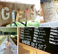 Like the gift banner idea Farm Wedding, Rustic Wedding, Dream Wedding, Wedding Stuff, Samantha Wedding, Chelsea Wedding, Wedding Reception Decorations, Reception Ideas, Wedding Ideas