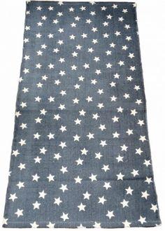 Teppich, Sterne, jeansblau