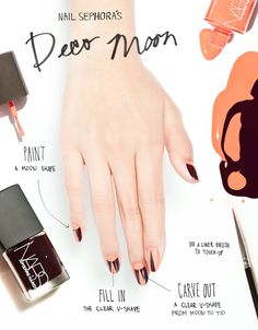The Deco Moon Manicure #HowTo with Pierre Hardy for NARS. Read more on the Glossy! #Sephora