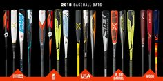 DeMarini, Easton, Louisville Slugger, Rawlings, and more come together to create the 2018 baseball bats. JustBats has BBCOR, USSSA, USA, and wood baseball bats with free shipping every day! Louisville Slugger, Softball, Baseball Bats, Sports, Free Shipping, Usa, Create, Wood, Bags