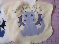 Dragon Baby Chinese New Year Zodiac Animal Baby Bib by AiTenshi, $10.00
