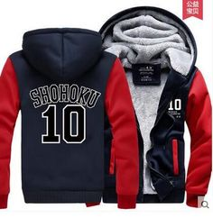 Hot New Slam Dunk Hoodie Sakuragi Hanamichi Rukawa Kaede Logo Winter Fleece Mens Sweatshirts Free Shipping