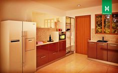 Heron Snazzy U-Shaped Kitchen   The hallmark of great design is how cleverly it uses available space. Like this trendy kitchen for example.