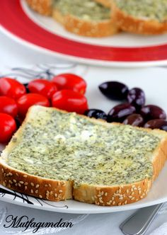 Mint cheese toast