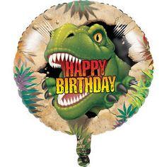 Dinosaurs Dino Blast Happy Birthday Party Foil Mylar Round Balloon T-Rex Metallic Balloons, Round Balloons, Heart Balloons, Helium Balloons, Happy Birthday Foil Balloons, Happy Birthday Messages, Happy Birthday Parties, Girls Party Decorations, Dinosaur Birthday Party